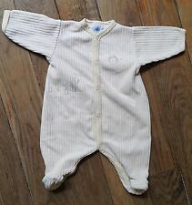Dors bien grenouillère pyjama Jaune PETIT BATEAU Naissance 50 cm  Excellent état