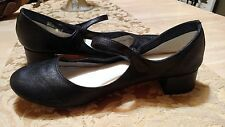 Repetto-Mary Jane Rose- Black Leather size 41/10 ankle strap mary jane shoes