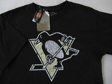 NWT Old Time Hockey Pittsburgh Penguins Youth Boy's Girl's S/S Black T Shirt - L