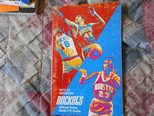 1972-73 HOUSTON ROCKETS MEDIA GUIDE Yearbook 1973 PRESS BOOK NBA Basketball AD