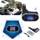 Bluetooth MP3 Player FM Transmitter Modulator LCD Car Kit USB SD MMC w/ Remote