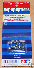 Tamiya 53024 4mm Aluminum Flange Lock Nut (Top Force Evolution/Wheel Nuts), NIP