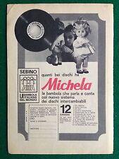 VV31 Pubblicità Advertising Clipping 19x13 cm(1969) MICHELA DISCO BAMBOLA SEBINO