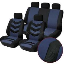 New Universal 9Pcs Car Seat Cover Front Seat Back Seat Covers Headrest Cover