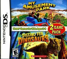 My Amusement Park & Digging for Dinosaurs 2 GAME PACK Nintendo DS DSI XL LITE 3