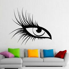 Auge Wimpern Beauty Wallsticker Wallpaper Wand Schmuck 65 x 59 cm Wandtattoo