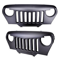 Angry Bird Front Matte Black Grill Grille Grid For Jeep Wrangler 1997-2006 TJ
