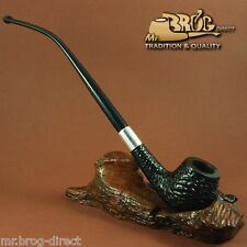 "Mr.Brog original HAND MADE long smoking pipe nr. 59 black carved "" HOBBIT """