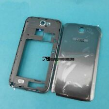 For Samsung Galaxy Note 2 N7105 I317 Gray Housing Middle Frame Battery Cover
