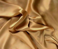 Silk~Y Satin Charmeuse Bed Sheet Set Queen Gold/Bronze