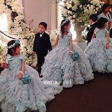 Luxury Wedding Party Formal Flower Girl Dresses Baby Pageant Gown Custom