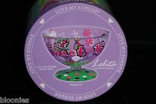 Lolita Love My Sundae SWEET 16 Ice Cream Glass Dish Sundae Bowl