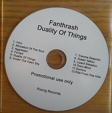Fanthrash - Duality of Things Promo Album (CD 2011) METAL Collectable CD