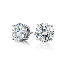 .50CT Men/Women's Amazing Round Cut VS2 H Diamond Stud Earrings 14K WG 1/2 Carat