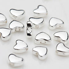 30Pcs Tibetan Silver Heart Spacer Loose Bead Charm Jewelry Finding Craft 5x6MM