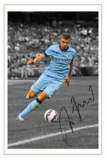 EDIN DZEKO MANCHESTER CITY 2014/15 SIGNED AUTOGRAPH PHOTO PRINT  SOCCER
