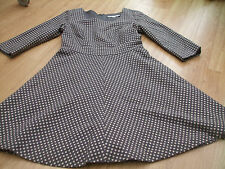 BODEN FAB KATE PEWTER SPOT DRESS SIZE 14 LONG BNWOT