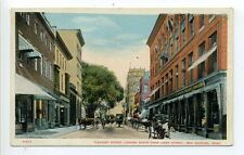 New Bedford MA Mass Pleasant Street view, people, horse, buggy, stores