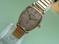 1940`s BULOVA * THE MINUTE MAN *.....NICE ART DECO ETCHED CASE...NEW CRYSTAL