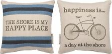 """Pillow~""""This Shore Is My Happy Place~Happiness Is... A Day At The Shore""""~Bike"""