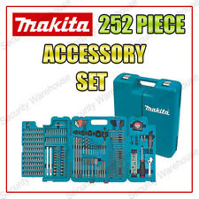 NEW MAKITA 252 Piece DRILL BIT ACCESSORY SET Screwdriver TOOLS Multi TRADE KIT