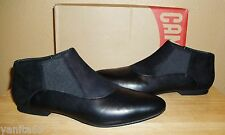 NIB CAMPER Vero Black Leather/Nubuck Womens Slip-on Shoes New EU 39 /US 8.5- 9