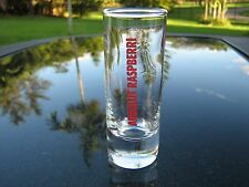 THE ABSOLUT  RASPBERRI   VODKA  RED  LOGO TALL SHOT GLASS   REPLACEMENT