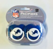 Detroit Lions Baby Infant Pacifiers NEW - 2 Pack   GREAT SHOWER GIFT!