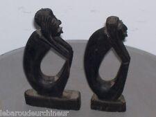 2 petites figures en ébène