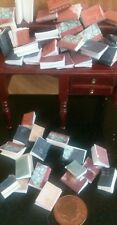 dolls house miniature books, Ecclesiastical job lot of 40 books 1:12th scale!!