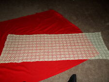 """53"""" x 17"""" Table Runner Crochet Lace Doily Beige Natural Ivory Vintage Rectangle"""