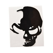 1 Pcs Skull Car Motorcycle Sticker Label Skull Stickers Accessories Black AKF