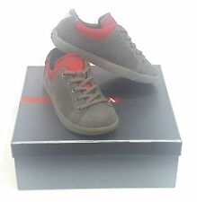 KIDS PRADA SNEAKERS GRAY/ RED  LACE UP   SIZE EU 23 / USA 5 PRE SCHOOL
