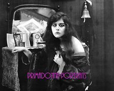 THEDA BARA 8X10 Lab Photo B&W Vanity Table, Movie Still Portrait, Vamp Glamour