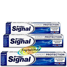 3x Signal Glowing White Expert Protection Micro Pure Technology Toothpaste 75ml