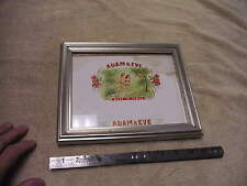 Vintage Adam And Eve , Made In Tampa Cigar Box Label , Framed