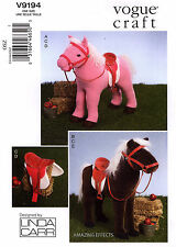 Vogue Sewing Pattern V9194 stuffed Horse Blanket Saddle Bridle 9194