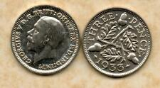 real silver 3d Three Pence coin 1933 Fine for collecting or invest in silver