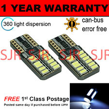2X W5W T10 501 CANBUS ERROR FREE WHITE 24 SMD LED TAIL REAR LIGHT BULBS TL103801