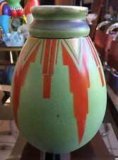 Petit Vase En Faïence Saint Ghislain Belgium : Art Déco