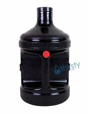 Black BPA FREE 1 Gallon Reusable Plastic Water Bottle Jug Container Canteen New