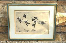 "WALTER BOHL SIGNED ETCHING ""BLUE WINGS"" ARTIST DUCK STAMPS"