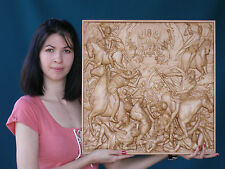"""20"""" Four Horsemen of the Apocalypse Wooden Carved Icon Large. Christian Gift."""