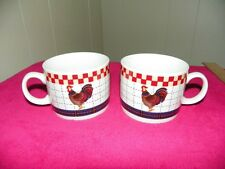 CALICO ROOSTER MAJESTICWARE COFFEE MUG- SET OF TWO
