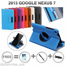 Premium 2013 ASUS Google Nexus 7 II Wallet Rotate Leather Case Cover Stand