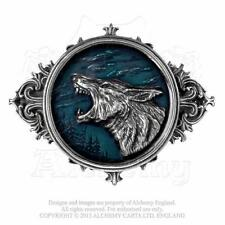 "Alchemy Gothic 'WULVEN' ""OF THE WOLF"" BELT BUCKLE. Wolves Tribal Werewolf Round"