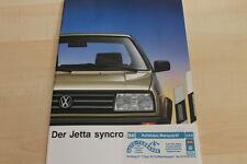 132427) VW Jetta GT syncro Prospekt 01/1988