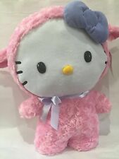 Hello Kitty Sanrio Lamb Minky Large Pink Plush 19 Inches Bow Stands New