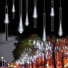 30CM 144LED 8 Rohre Weiß Meteor Dusche Regen Weihnachten Lichter EU STECKER