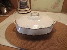 pope-gosser china white casserole dish with lid